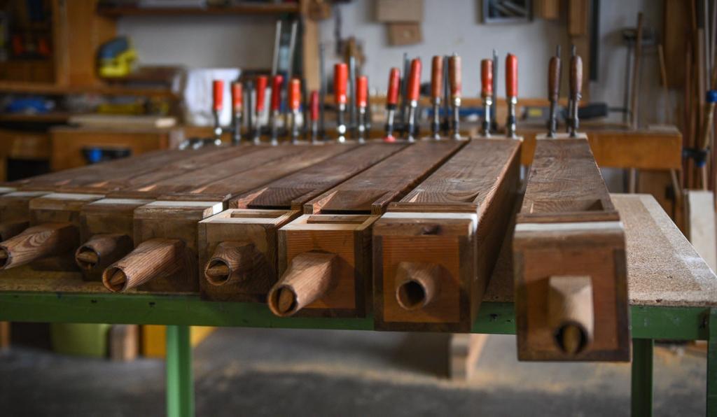 18. Mai - die Holzpfeifen der Orgel