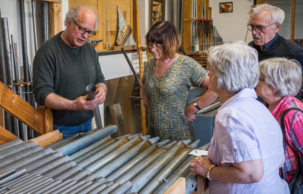18. Mai - Besuch in der Orgelbauwerkstatt